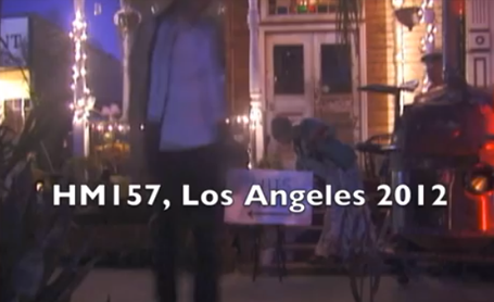 Discotrope outdoor performance at HM157 in Los Angeles with live dance cam debut